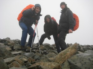Two down, top of Scafel Pike